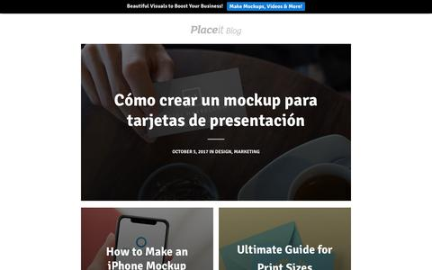 Screenshot of Blog placeit.net - Placeit Blog - Mockups, Design Templates and Advice on Marketing - captured Oct. 6, 2017
