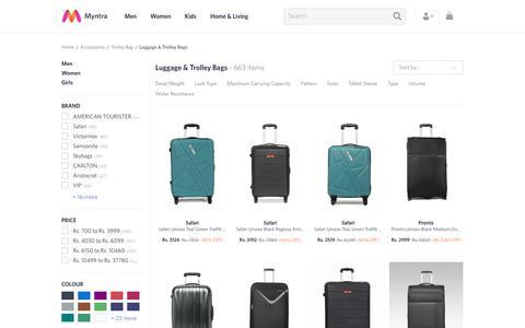 Screenshot of myntra.com - Trolley Bags - Buy Luggage Bags Online in India - captured June 5, 2017