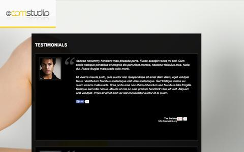 Screenshot of Testimonials Page e-comstudio.com - Testimonials  |  E-commerce Photography | E-Commerce Photographer | Product Photography - captured Oct. 28, 2014