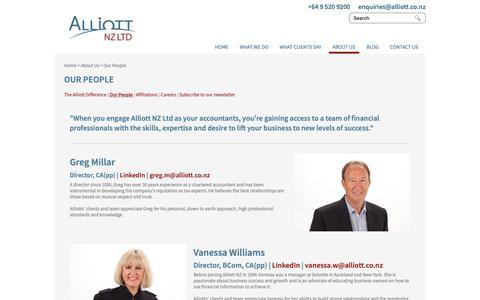 Screenshot of Team Page alliott.co.nz - Auckland Chartered Accountants | Alliott nz - captured Oct. 3, 2018