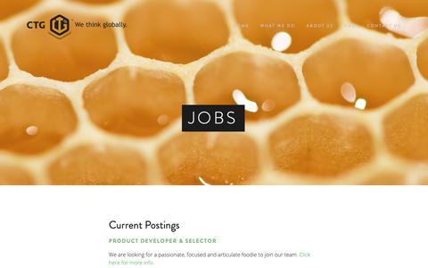 Screenshot of Jobs Page ctg.us - Jobs — CTG - captured Feb. 15, 2019