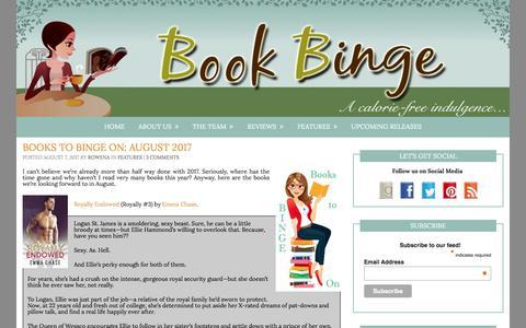 Book Binge – …a calorie-free indulgence