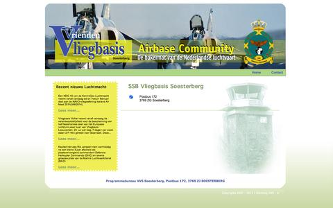 Screenshot of Contact Page v-v-s.nl - SSB Vliegbasis Soesterberg - captured Oct. 27, 2014