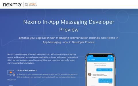 In-App Messaging Developer Preview