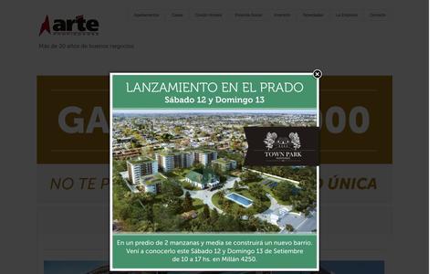 Screenshot of Home Page ap.uy - Arte Propiedades   Negocios Inmobiliarios – - captured Sept. 11, 2015