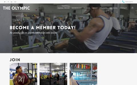 Screenshot of Signup Page theolympic.co.nz - Products Archive   The Olympic Pools & Fitness Centre - captured Feb. 15, 2016