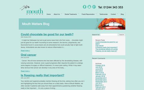 Screenshot of Blog mouthmatters.com - Mouth Matters - captured Nov. 18, 2018