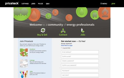 Screenshot of Signup Page pricelock.com - Pricelock - Join Pricelock - captured Oct. 27, 2014