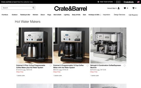 Hot Water Makers | Crate and Barrel