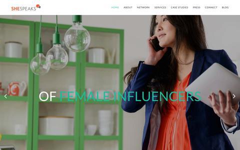 SheSpeaks - SheSpeaks Inc - Influencer Marketing