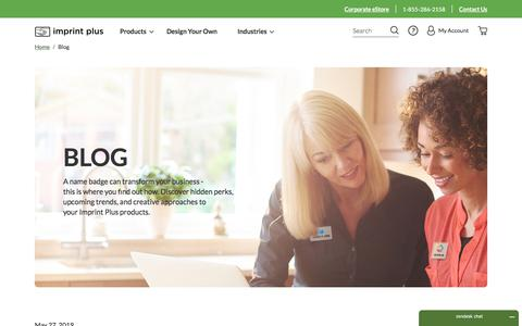 Screenshot of Blog imprintplus.com - Blog | Imprint Plus - captured Feb. 20, 2020
