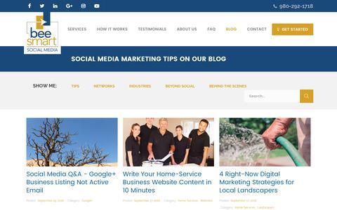 Screenshot of Blog beesmartsocialmedia.com - Social Media Marketing Tips   Tips for Social Media Marketing   Blog - captured June 1, 2017