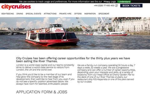 Screenshot of Jobs Page citycruises.com - Jobs at City Cruises - captured July 18, 2018