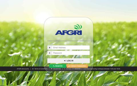 Screenshot of Login Page afgri.co.za - AFGRI eAccounts - captured Oct. 6, 2017
