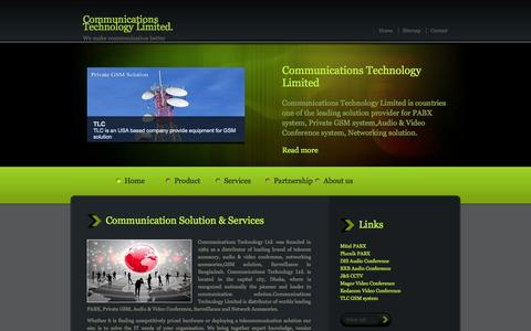 Screenshot of Home Page Services Page ctlbd.com - Communications Technology Limited - captured Oct. 3, 2014