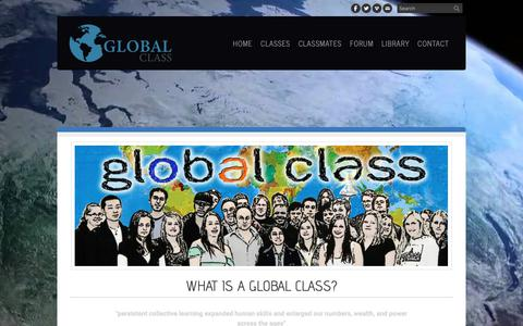 Screenshot of About Page theglobalclass.org - About - The Global Class - captured Dec. 10, 2018