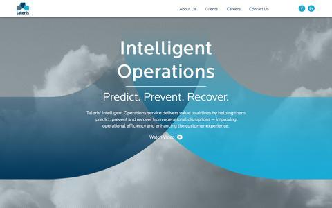 Screenshot of Home Page taleris.com - Taleris - captured Oct. 9, 2014