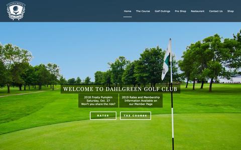 Screenshot of Home Page dahlgreen.com - Dahlgreen Golf Club – Chaska, MN - captured Oct. 18, 2018