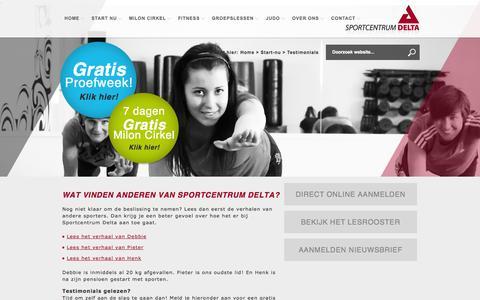 Screenshot of Testimonials Page sportcentrumdelta.nl - Fitness & Groepsfitness | Sportcentrum Delta in Hulst en Terneuzen - Wat vinden anderen van Sportcentrum Delta? - captured Sept. 30, 2014