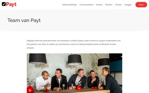 Screenshot of Team Page payt.nl - Team van Payt | Payt - Automatiseert het debiteurenbeheer - captured July 16, 2018