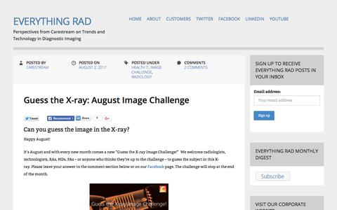 Everything Rad - Perspectives from Carestream on Trends and Technology in Diagnostic Imaging