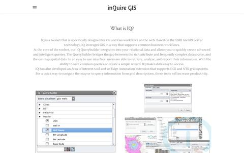 Screenshot of Services Page weebly.com - Services - inQuire GIS - captured Sept. 20, 2018