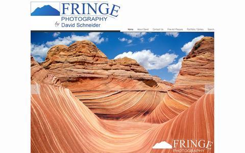 Screenshot of Home Page fringe.com - Fringe Photography by David Schneider - Southwest landscape, nature and wildlife photography - captured Oct. 6, 2014