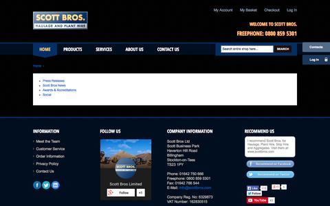 Screenshot of About Page scottbros.com - About Us - Scott Bros - captured Sept. 30, 2014