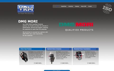 Screenshot of Home Page vonruden.com - Von Ruden Manufacturing | Standard and Custom Manufactured Components - captured Sept. 29, 2014