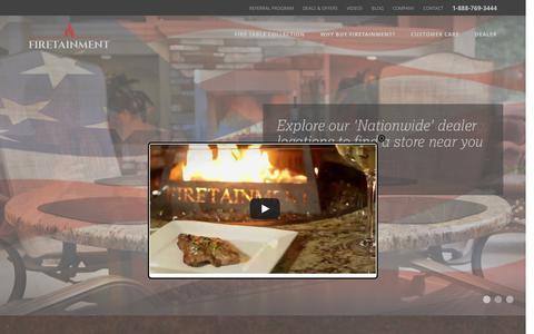 Screenshot of Home Page firetainment.com - Home - Firetainment - captured Feb. 10, 2016