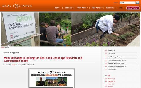 Screenshot of Blog mealexchange.com - :: Meal Exchange :: - captured Dec. 21, 2015