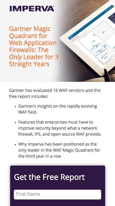 Gartner Magic Quadrant for Web Application Firewalls - Imperva WAF Security