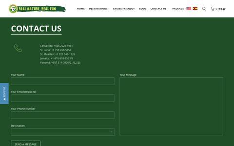 Screenshot of Locations Page rainforestadventure.com - Contact Us Now! | Rainforest Adventures | More information | ENTER | – RainforestAdventures - captured Oct. 18, 2018