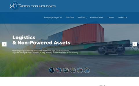 Screenshot of Home Page xirgotech.com - Xirgo Technologies | Fleet Management Solutions & Tracking | M2M Communications | - captured Oct. 20, 2018