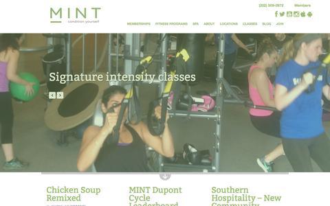 Screenshot of Blog mintdc.com - Blog | MINT DC - captured Jan. 12, 2016