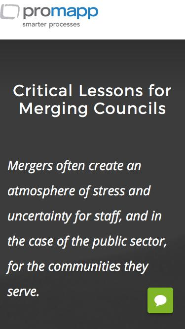Critical Lessons from Merging Councils