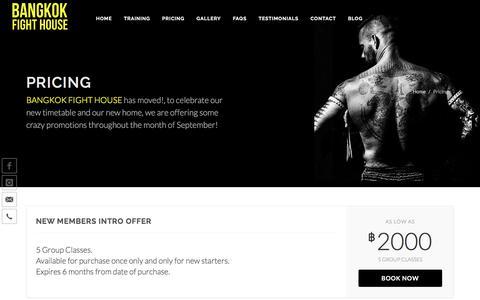 Screenshot of Pricing Page bangkokfighthouse.com - Bangkok Fight House - Pricing - captured Feb. 12, 2018