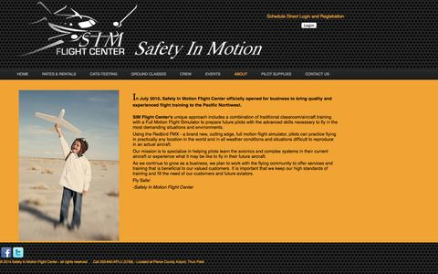 Screenshot of About Page simflightcenter.com - About SIM Flight Center - captured Oct. 4, 2014
