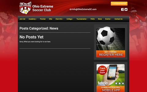 Screenshot of Press Page ohioextremesc.com - News Archives - Ohio Extreme Soccer Club - captured Oct. 19, 2017