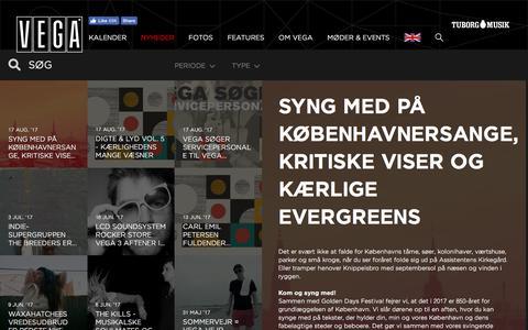 Screenshot of Press Page vega.dk - VEGA Sangskat den 10. september i Store VEGA  - VEGA   Musikkens hus - captured Aug. 23, 2017