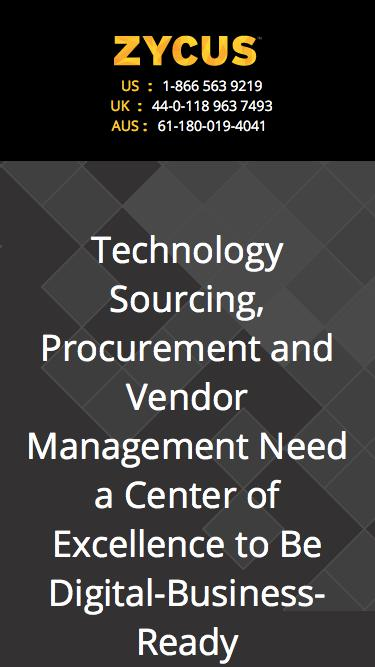 Technology Sourcing, Procurement and Vendor Management Need a Center of Excellence to Be Digital-Business-Ready