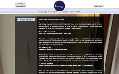 Screenshot of Testimonials Page richhaen.com - RichHaen.com Realty - captured Oct. 9, 2014