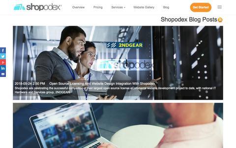 Screenshot of Blog shopodex.com - Blog Posts | Shopodex Digital Marketing Platform - captured July 8, 2018