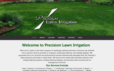 Screenshot of Home Page precisionlawnirrigation.net - Precision Lawn Irrigation | Home - captured Jan. 30, 2016