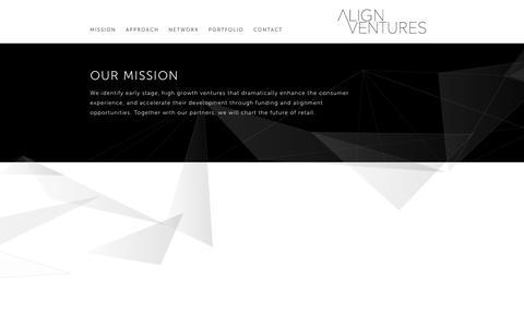 Screenshot of Home Page align.vc - Align Ventures - captured Nov. 20, 2016