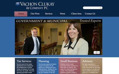 Screenshot of Home Page vachonclukay.com - Vachon Clukay & Company PC | - captured Oct. 9, 2014