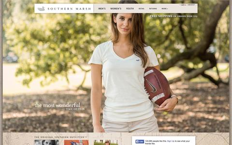 Screenshot of Home Page southernmarsh.com - Southern Marsh Collection - captured Sept. 23, 2014