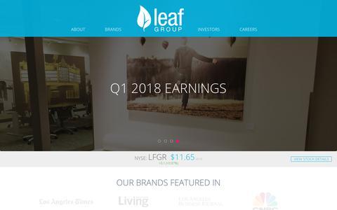 Screenshot of Home Page leafgroup.com - Leaf Group - - captured July 6, 2018