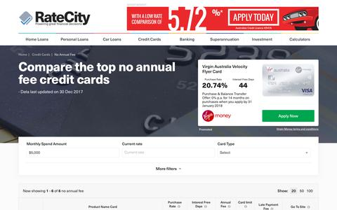 Top 2018 $0 Annual Fee Credit Cards – Deals | RateCity