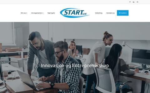Screenshot of Home Page startuis.no - Start UiS - Studentorganisasjon ved UiS - captured Sept. 21, 2018